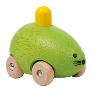 Topino/topo che squittisce in legno, set da 2. Giocattolo per bambini