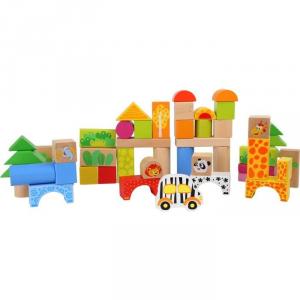 Cubetti in legno Zoo da assemblare gioco educativo bambini