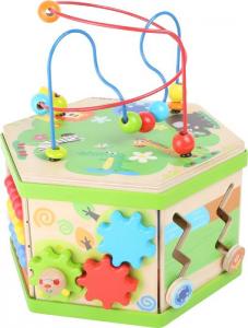 Dado cubo motricità in legno Safari giocattolo per bambini