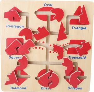 Gioco motricità delle forme in legno, giocattolo per bambini
