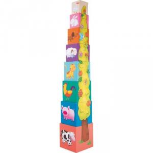 Dadi da accatastare Animali in legno giocattolo per neonato/bambino