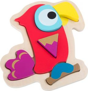 Puzzle in legno Pappagallo. Puzzle per bambini