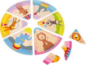 Puzzle in legno Animali del circo. Puzzle per bambini