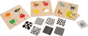 Puzzle di legno Animali Sagome divertenti. Set da 2 Gioco per bambini