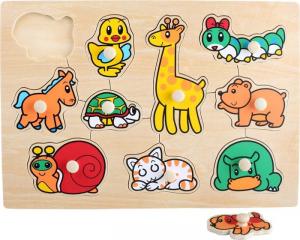 Puzzle ad incastro in legno animali Baby. Gioccattolo per bambini