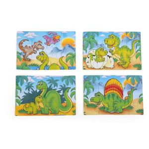 Box-Puzzle in legno 4 in 1 Dinosauri Legler 10174