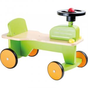 Trattore a spinta in legno Gioco primi passi per bambini Legler 10110
