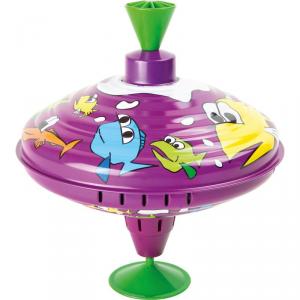 Trottola sonora in latta Mondo marino gioco per bambini Legler 10297
