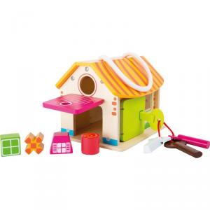 Casa motricità Stalla Gioco ad incastro in legno bambini Legler 10315