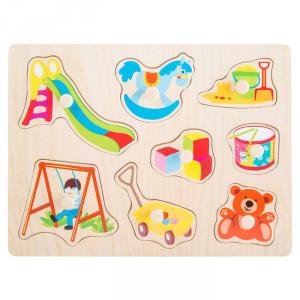 Puzzle ad incastro in legno Giocattoli Legler 10447