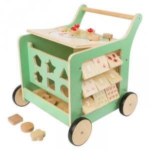 Carrello primi passi in legno Gioco motricità bambini MOVERE