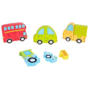 Puzzle in legno Veicoli gioco per bambini