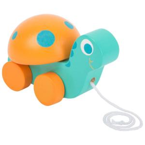 Tartaruga in legno da trainare giocattolo per bambini