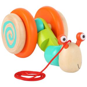 Lumaca da trainare gioco in legno