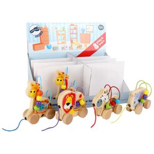 Animali da tirare con gioco motricità in legno Gioco per bambini