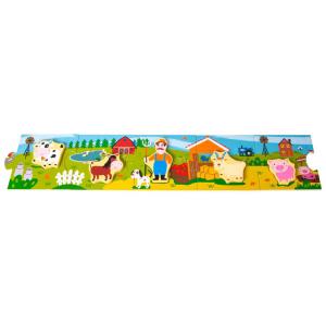 Story Puzzle Fattoria in legno Gioco per bambini