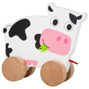Mucca da trainare Gioco in legno per bambini