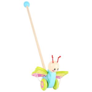 Farfalla colorata da spingere gioco in legno per bambini