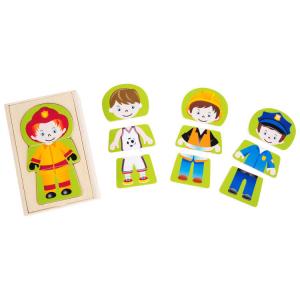 Puzzle in legno Lavoro dei sogni Ragazzo da vestire Gioco per bambini