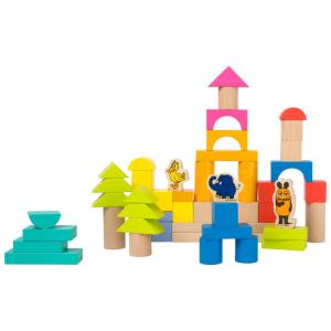 Cubetti costruzioni in legno con l´Elefante DieMaus