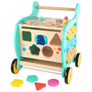 Carrello primi passi in legno Elefante DieMaus gioco motorio per bambini