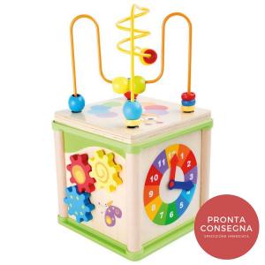 Dado motricità Insetti gioco in legno per bambini