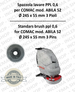 Cleaning BRUSH ppl 0,6 for scrubber dryers COMAC mod. ABILA 52 with 3 pioli