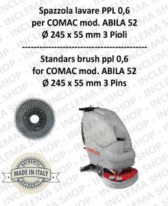 Standard Brosse ppl 0,6 pour autolaveuses COMAC mod. ABILA 52 con 3 pioli