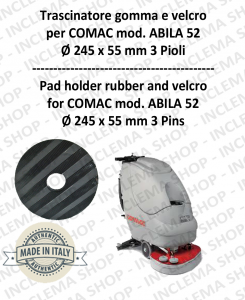 Padholder for scrubber dryer COMAC mod. ABILA 52 with 3 pioli