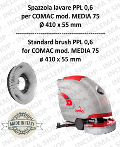 MEDIA 75 Standard Brosse  in PPL 0,60 Dimensions ø 410 X 55 pour autolaveuses COMAC-2
