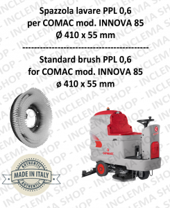 IINNOVA 85 Cleaning BRUSH  in PPL 0,60 Dimensions ø 410 X 55 for scrubber dryers COMAC