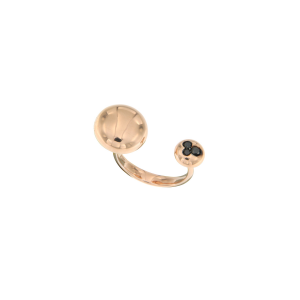 Anello Glamour borchie in oro rosa e diamanti