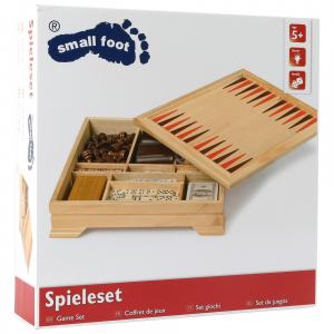 Set giochi da tavolo in legno per scacchi backgammon cribbage poker