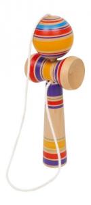 Kendama in legno colorato afferra la pallina gioco classico giapponese Legler 6179