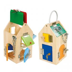 Casetta casa delle chiusure con lucchetti gioco educativo per bambini