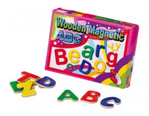 50 lettere magnetiche gioco per bambini in legno