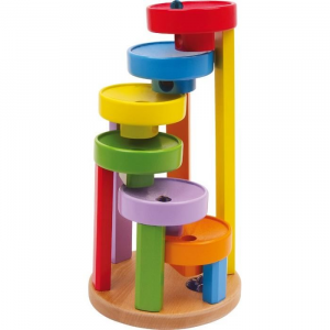 Pista per biglie colorata gioco in legno per bambini