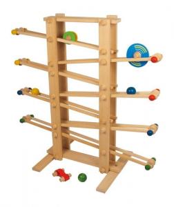 Pista per biglie Gigante alta qualità gioco in legno faggio per bambini