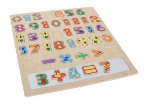 puzzle ad incastro calcoli numeri in legno gioco bambini
