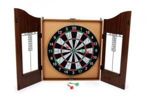 Bersaglio freccette con mobile in legno gioco da tavolo