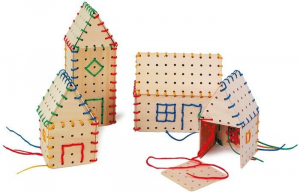 Costruzioni componibili in legno gioco per bambini 32 pezzi