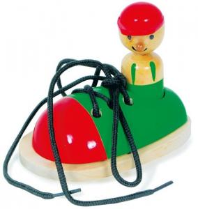 Scarpa da infilare in legno gioco per bambini