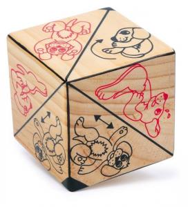 Cubo in legno attività gioco memoria e motricità bambini