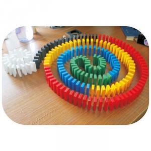 Domino costruzioni colorate 560 pedine in legno gioco Legler 6865