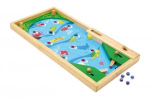 Flipper pesci in legno colorato gioco di società x bambini