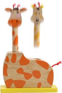 Giraffa saltante in legno,gico/giocattolo in legno per bambini