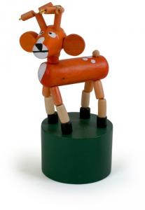 Set da 8 animali a pressione in legno,giocattolo per bambini. Idea bomboniera regalo
