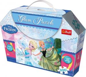 Puzzle luccicante Frozen Disney Elsa e Anna 100 pezzi