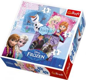 Puzzle Frozen Disney 3 in 1 Regina Elsa Anna Olaf