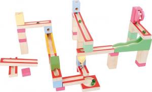 Pista per biglie in legno colorato giocattolo per bambini